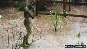 Flooded garden, Devon