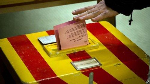 Swiss voter casts ballot (9 February 2014)