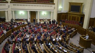 Ukrainian parliament session