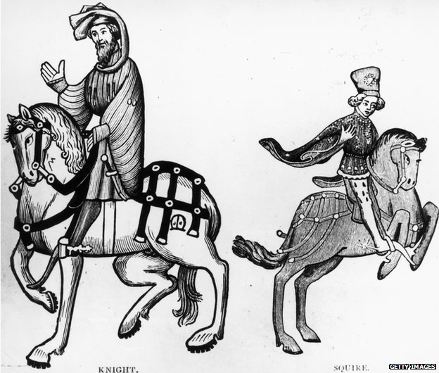 Knight In Chaucer S Black And White
