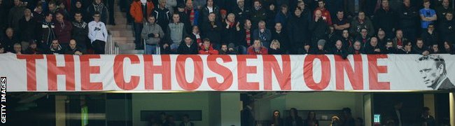David Moyes - 'The Chose One' sign