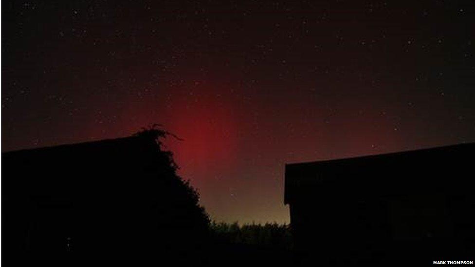 Northern Lights in Norfolk
