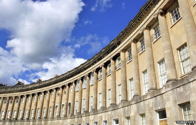 Bath stone buildings -