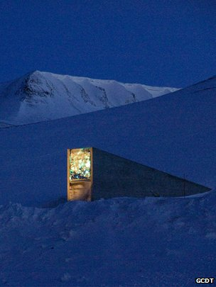 Entrance to the Svalbard Global Seed Vault (Image: GCDT)