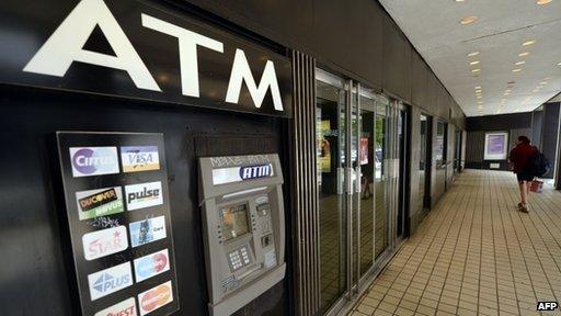 Cash machine in US