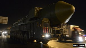 Missile in Moscow (28 February 2014)
