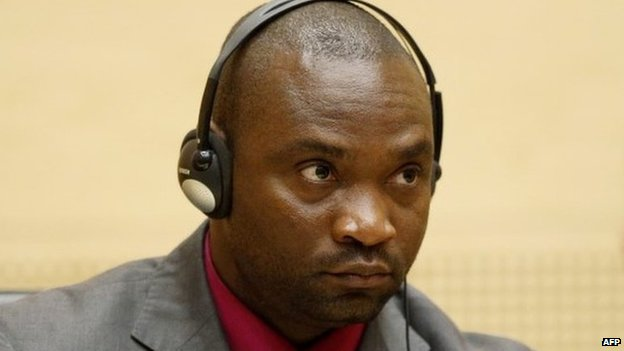 Germain Katanga in 2012 in court at The Hague