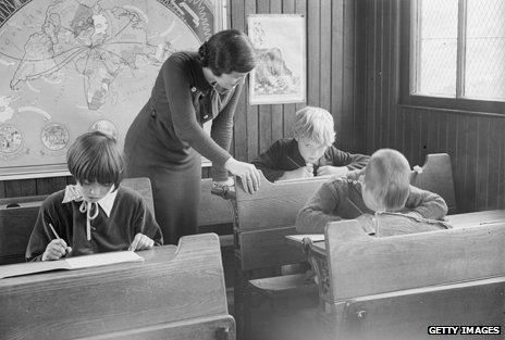 Peebleshire classroom, 1930s