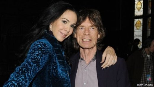 L'Wren Scott and Mick Jagger in New York  16 February 2012