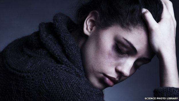 Abused woman, stock photo