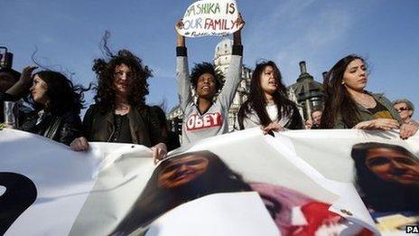 Protest against Yashika Bageerathi's deportation