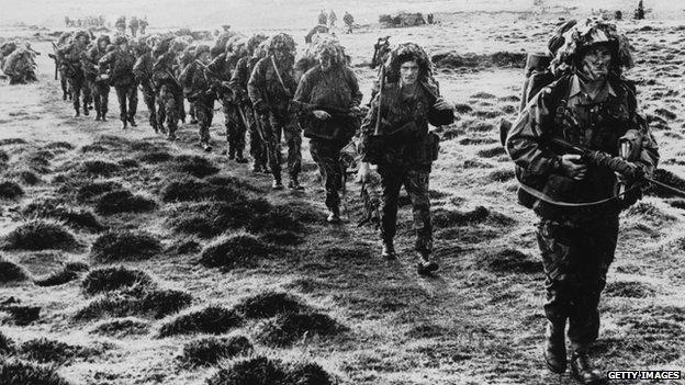 Las fuerzas británicas en las Malvinas