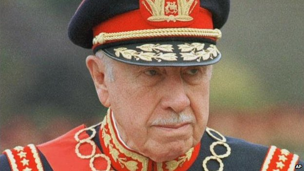 General Augusto Pinochet is shown in this March 10, 1998 file photo