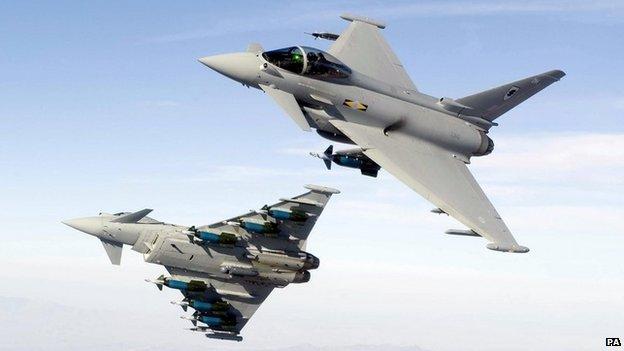 Typhoon fighter jets