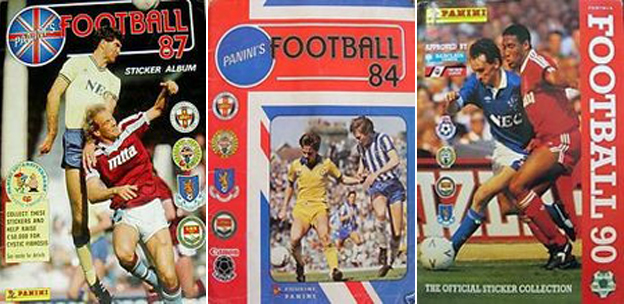 Panini albums of years past