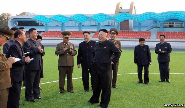 Kim Jong-un visits a children's camp