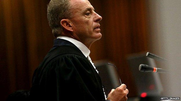 State prosecutor Gerrie Nel questions Oscar Pistorius - 15 April 2014