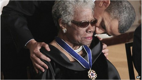 President Obama and Maya Angelou