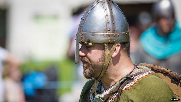Man dressed up as Saxon