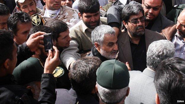 Brig Gen Qasem Soleimani pictured at funeral in Iran