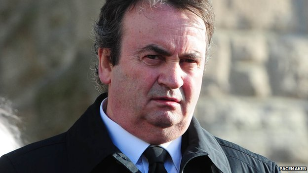 Gerry Conlon, pictured at the funeral of SDLP MP Eddie McGrady