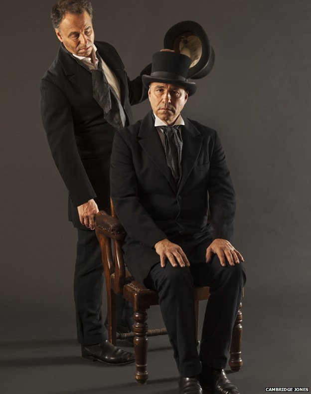 Anthony Horowitz as Jekyll and Hyde. Photo by Cambridge Jones; found via BBC.