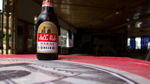 A bottle of Harar beer
