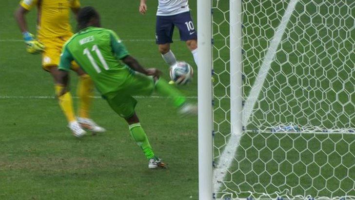Victor Moses clears off line
