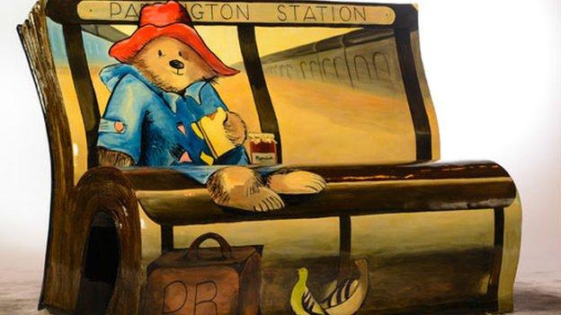 Paddington Bear bench