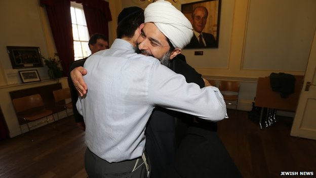 Rabbi Levy meeting Ibrahim Mogra