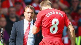 Liverpool's Brendan Rodgers and Steven Gerrard