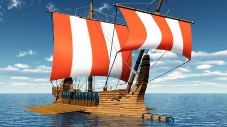 Ancient Greek replica ship