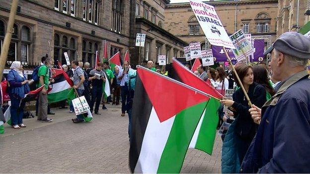 Demonstration outside Underbelly