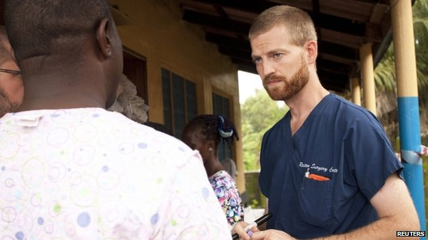 Dr Kent Brantly at the case management center on the campus of ELWA Hospital in Monrovia