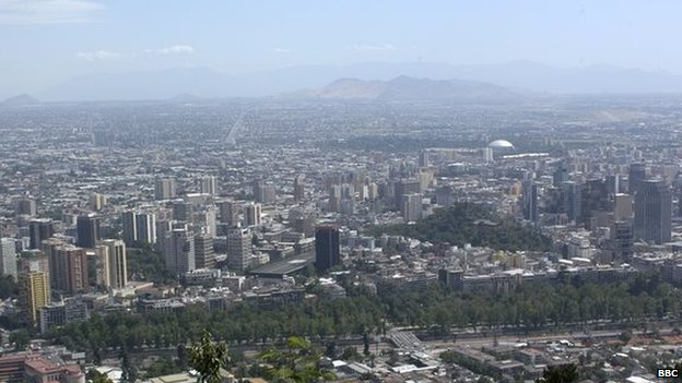 General view of Santiago, the capital city of Chile