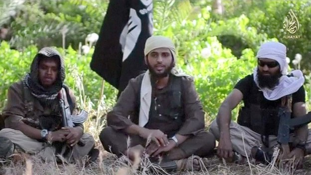 Still frame from video posted by ISIS