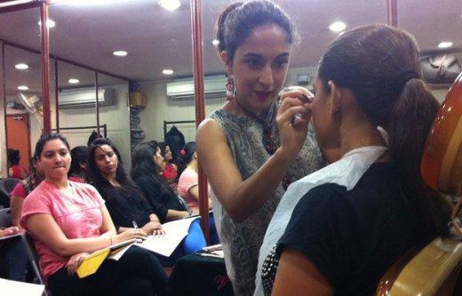 A make-up studio in Delhi