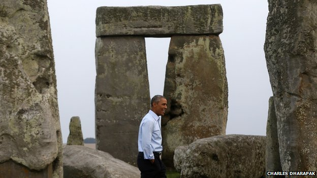 President Obama at Stonehenge