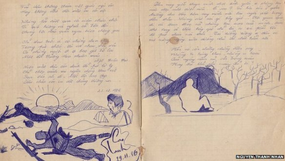 An entry in the war diary of the author and veteran Nguyen Thanh Nhan, which recounts a battle in 1986 where many Vietnamese soldiers were killed by Pol Pot's Khmer Rouge
