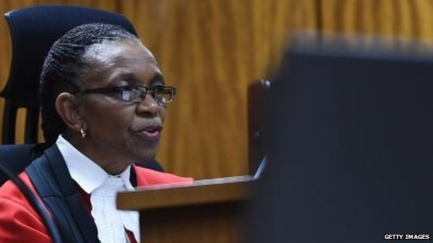 Judge Thokosile Masipa delivers verdict - 11 September