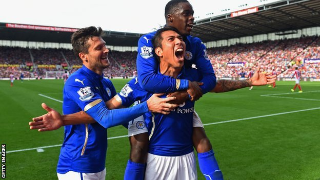 Leonardo Ulloa, Leicester v Stoke