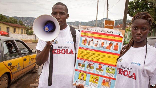 Campaigners warning of Ebola in Freetown, Sierra Leone