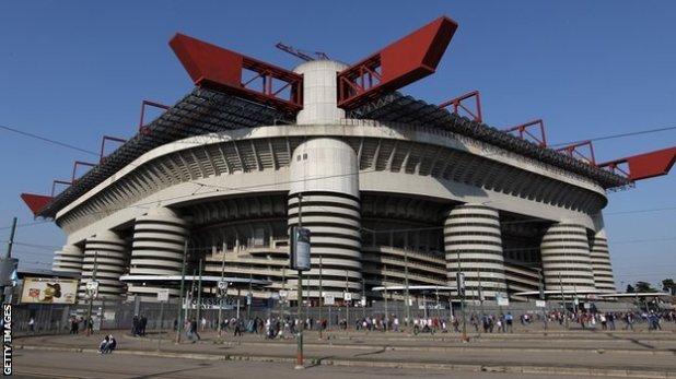 Milan's San Siro stadium, 2016 Champions League final