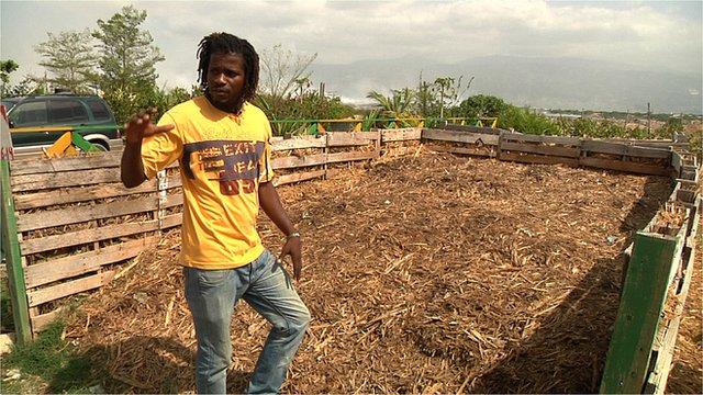 Sitio de compostaje en Haití