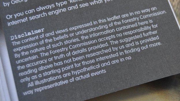 Rendlesham Forest UFO trail disclaimer