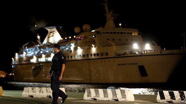 Cruise ship Salamis Filoxenia docked in Limassol. 25 Sept 2014