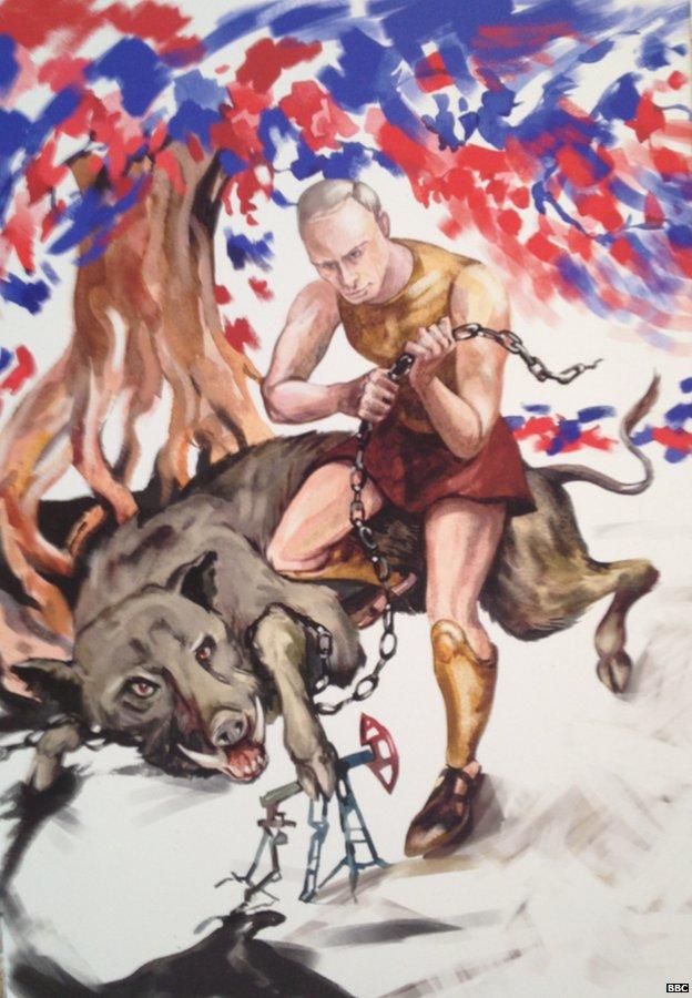 Putin Gallery Rosenberg 6 October 2014
