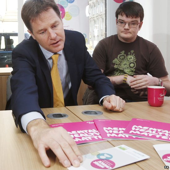 Nick Clegg visits the Scottish Association for Mental Health