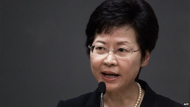 Hong Kong's Chief Secretary Carrie Lam addresses a press conference in Hong Kong on July 15, 2014