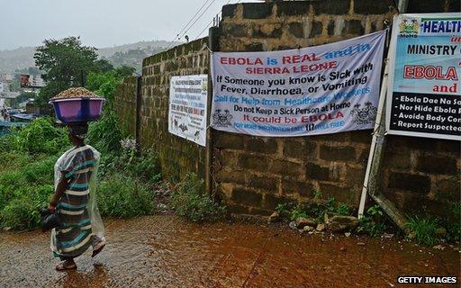 Ebola advice